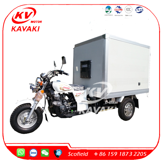 Van Trike Ice Cream Tricycle with Container Cargo Box Sale
