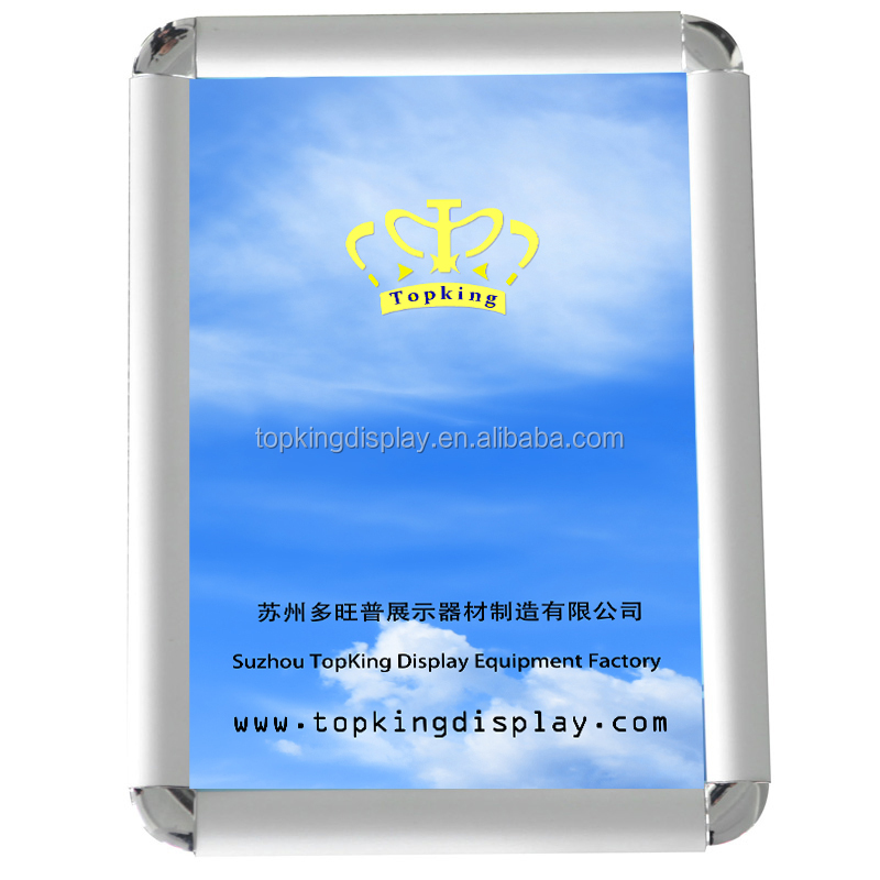 hot sale 20mm 25mm 32mm aluminum round corner holding photo picture <strong>frame</strong> for display