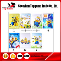2015 New Arrival Cute Cartoon Character Minions Flip Case For iPad 2 3 4 tablet