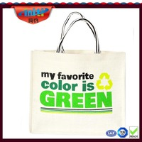 2014 hot new nice designs white cotton tote bag