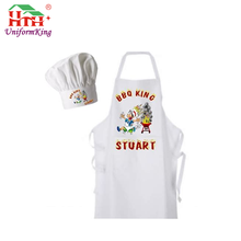 cheap promotional cotton fabric black striped waterproof long kids aprons cooking for wholesale