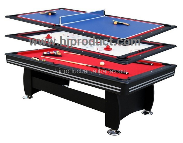 Best selling 3 in 1 dinning pingpong pool table functions for 10 pool table