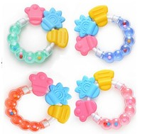 baby accessory factory wholesale safety ecofriendly silicone baby teether toy
