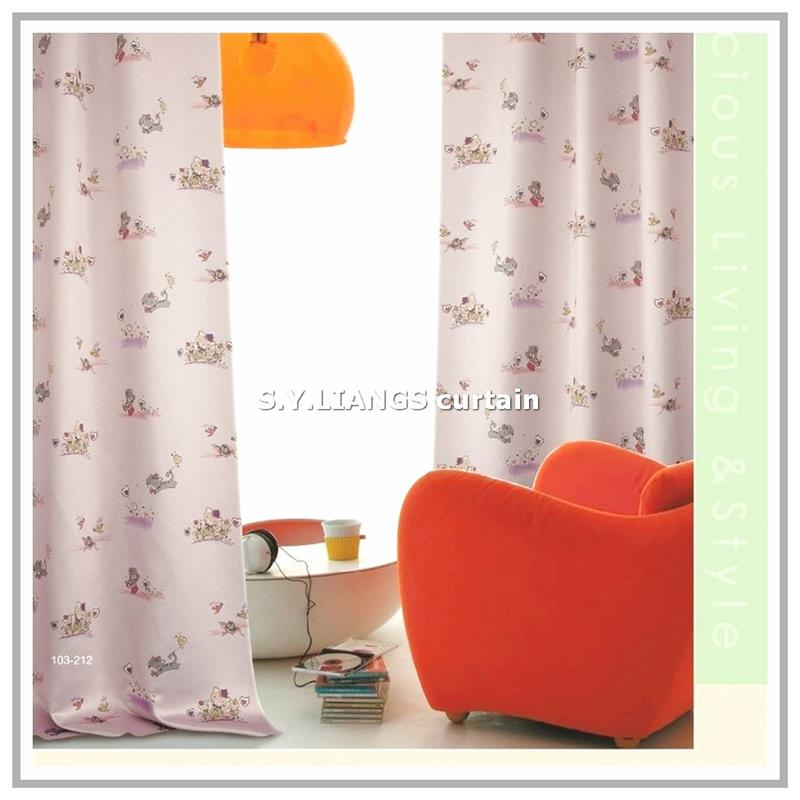 New Design Cartoon Printied Blackout Curtains For Kid's room