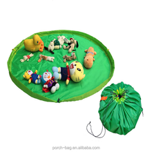 Home and outdoor 1.5 meter children toy mat waterproof foldable drawstring bag toy storage bag