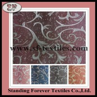 China fabrics manufacture polyester jacquard brocade fabric price for curtain