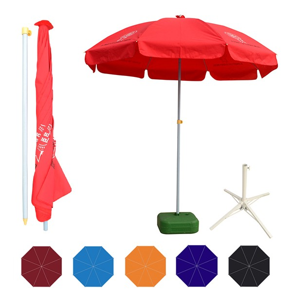 oxford fabric 180cm beach umbrella steel frame