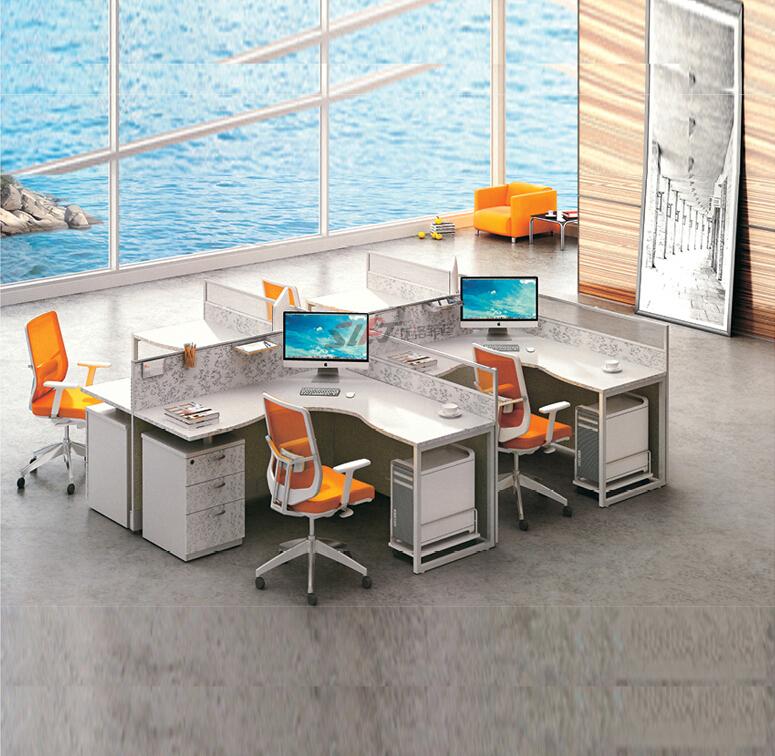 Moderne design schrank 120 grad 4 person b roarbeitsplatz for Schreibtisch 45 grad