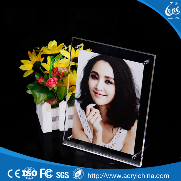Best selling acrylic put your picture in a frame,frameless picture frame