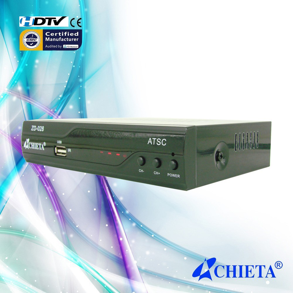 ATSC TV Tuner with RF In&Loop Through Set Top Box