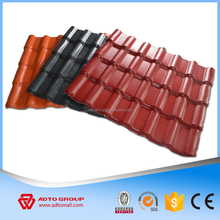 European light weight colored terracotta plastic resin roof tile