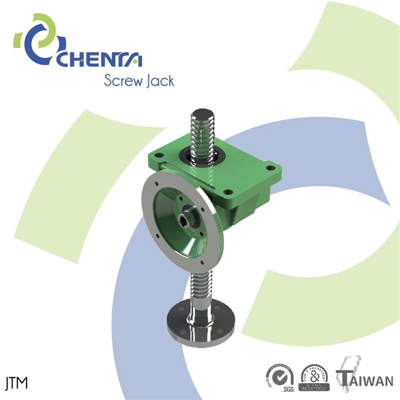 JTM worm gear reduction gearbox acme mechanical lifting jacks adjustable worm gear automatic screw jack