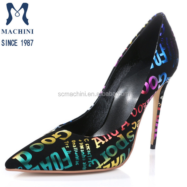 Latest design Africa fabric printing mature dress shoes women
