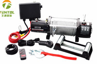 high speed 9500lbs spooling 12v electric winch capstan winch