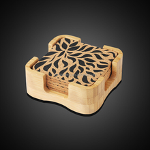 Soft wood cup mats/Cork wood cup mats set with box