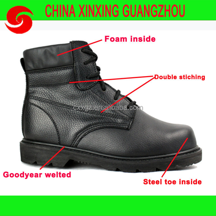 army leather shoe high ankle worker soldier shoe military safety shoes