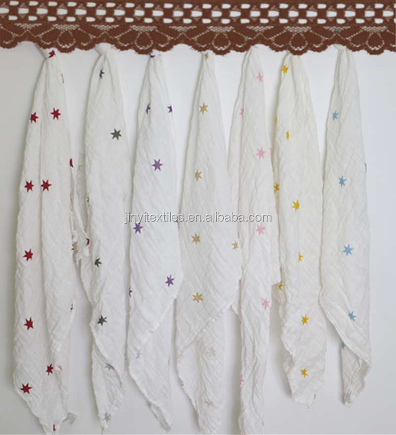 HOT sales large lattice muslin 28inch washed muslin