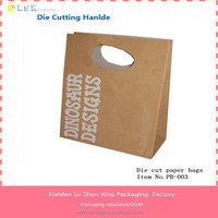 Cheap fold over die cut paper bag