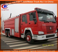 Heavy duty watering truck Howo fire truck fire engine 8000Liter water and foam tank howo fire-fighting truck