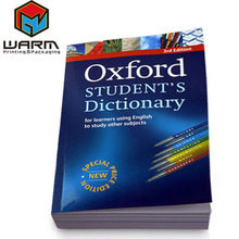 Oxford English Dictionary Book Printing Custom Design Softcover Clued Book