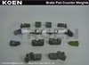 Supply Brake Pad Counter Weights FMSI D1479