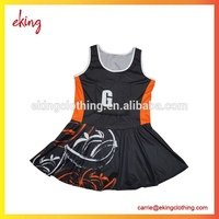 Factory best price netball dresses sublimated