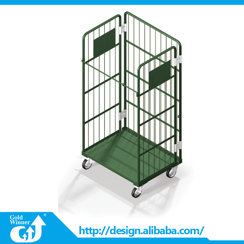 Website Selling wire mesh rolling cage hand trolley cart container