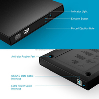 new usb 24x external cd-rom cd rom drive for laptop/pc