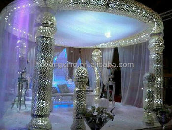 latest large indian mandap wedding decoratios with led light
