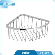 FUAO Chrome plated solid brass woven rectangular baskets