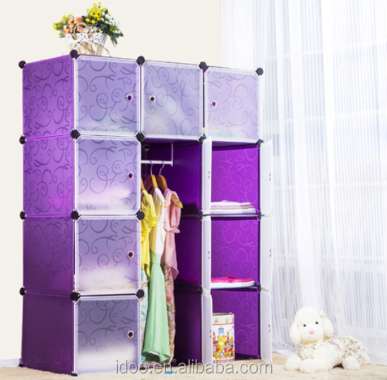 Featured plastic storage cubes stackable magic cube clothes cabinets living room furniture (FH-AL0041-12)