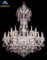 Wholesale antique silver crystal indian chandelier