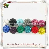 Wholesale shamballa beads crystal pave bead wholesale for necklace bracelets