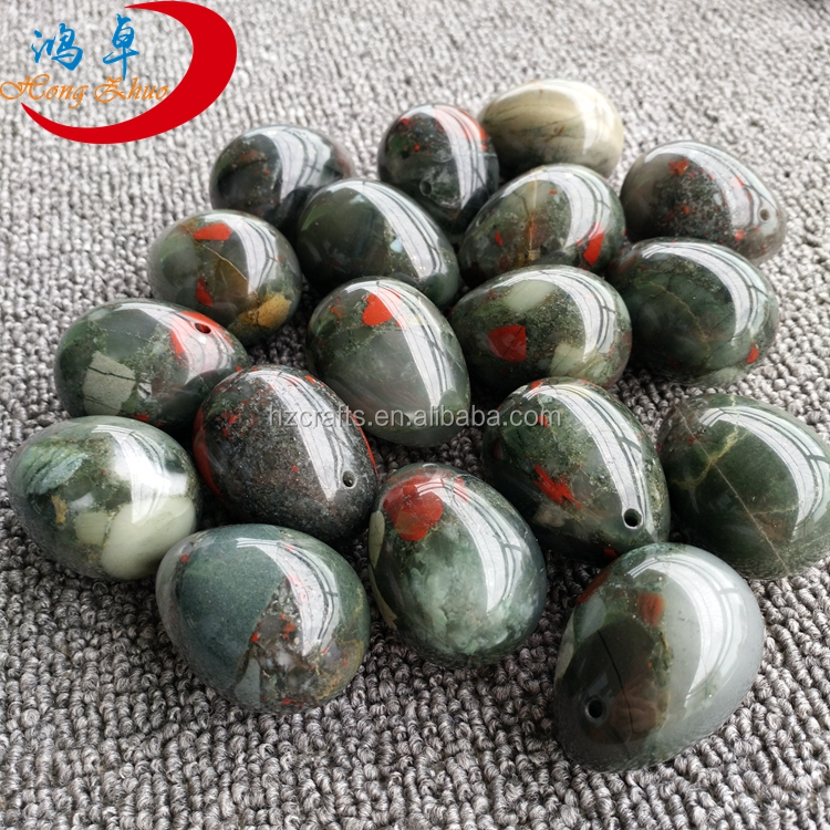 Bloodstone Gems Kegle balls Predrilled, Hand Crafted, Natural Wax For Women Exercise Handmade