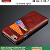 mobile phone leather case for iphone 7 / 8 / x / plus leather case with credit card holder