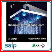 LED ceiling mounted rain shower head