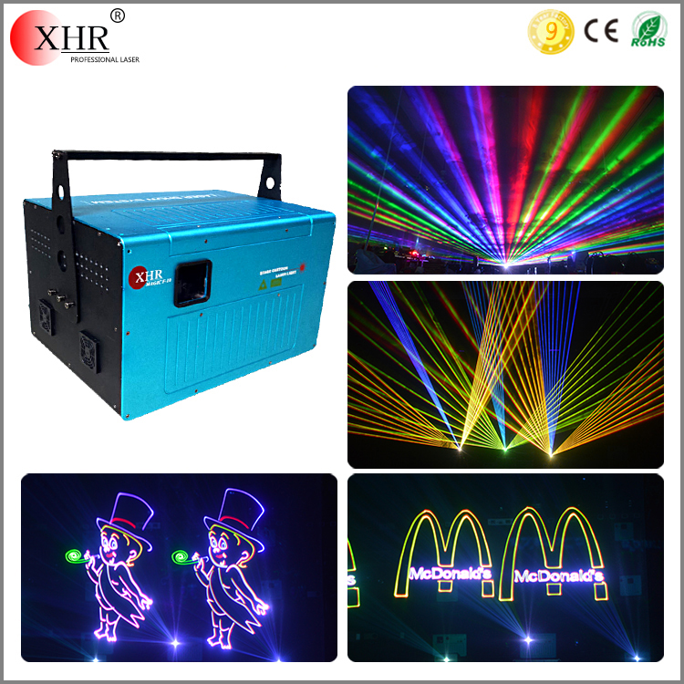 20W High Power RGB Outdoor Laser Light, Full Color Stage Laser Lighting Logo Projector