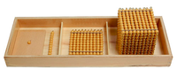 Introduction to Decimal Quantity w/ Trays, Montessori materials