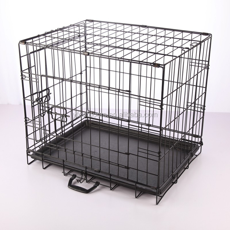 Good quality new style double foldable dog cage