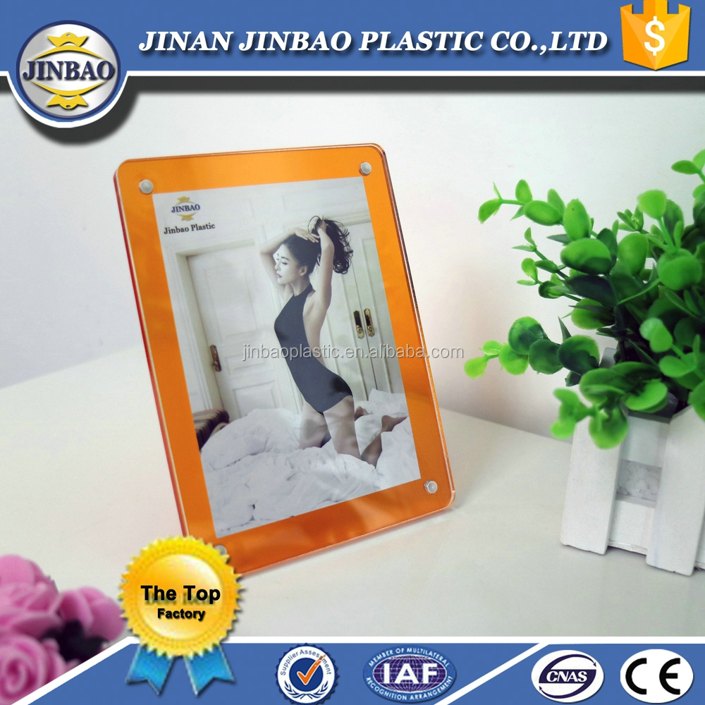 Jinbao frameless acrylic open hot sexi girl photo frame