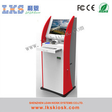 payment kiosk with touch screen cash acceptor