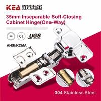 [K14]High Quality Inseparable Stainless Steel Kitchen Cabinet Door Hinge Soft-Closing Hinge