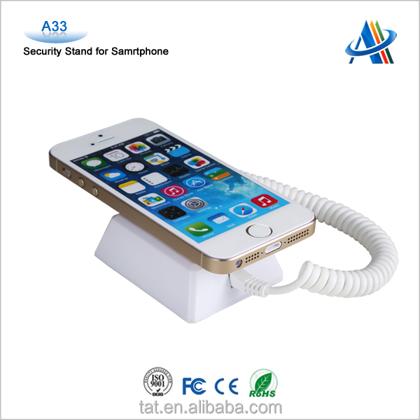 Mobile phone alarm security display stand holders with charging function A33