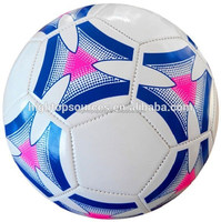 2016 popular design, official size/weight custom leather soccer ball for promotion
