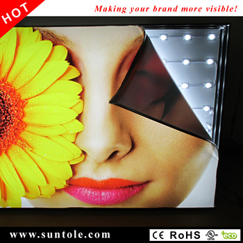 Frameless fabric light box WD10-1T 40mm thickness  high bright stretched textile light box