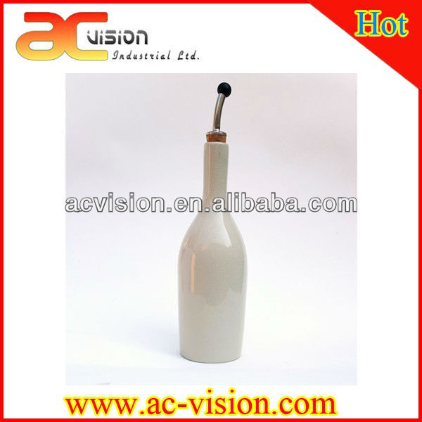 White Olive Oil Bottle with Spout Wholesale