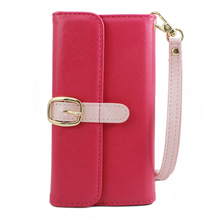 Flip Leather Wallet Card Case Slot Cover With Hand Strap For IPhone 8 7