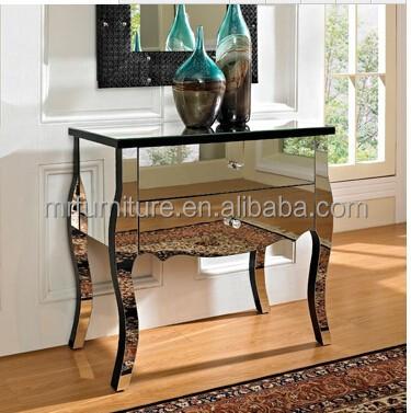 현대 베네치아 거울 가구 2 서랍 엔트리 테이블-유리 테이블 ...