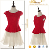 Latest casual dress designs lace design Cap-sleeve fashion dresses