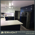 Contemporary Dark Blue High Gloss Modular Kitchen Export to Australia